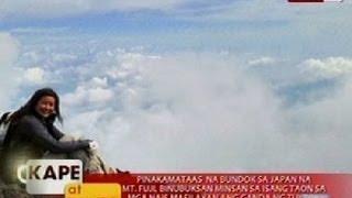 KB: Kara David, matagumpay na naakyat ang Mt. Fuji sa Japan