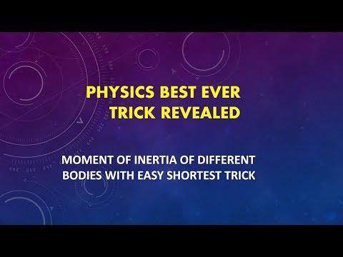 Moment of Inertia Shortest Trick Ever ..!!