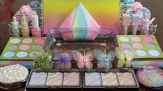 """Download Mp3 Mixing""""pastel"""" Eyeshadow And Makeup,parts,glitter Into Slime!satisfyin"""