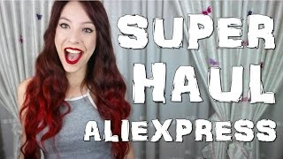 SUPER MEGA HAUL ALIEXPRESS RANDOM TRY-ON | BIKINIS, BAÑADORES, ROPA, MAQUILLAJE, HARRY POTTER...