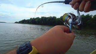 Рыбалка на КВОК! ТОЛЬКО ОПУСТИЛ ПРИМАНКУ на ДНО И..Ловля на РАТТЛИНЫ в ОТВЕС!