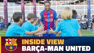 [BEHIND THE SCENES] A different angle on the game Barça Legends-Man United