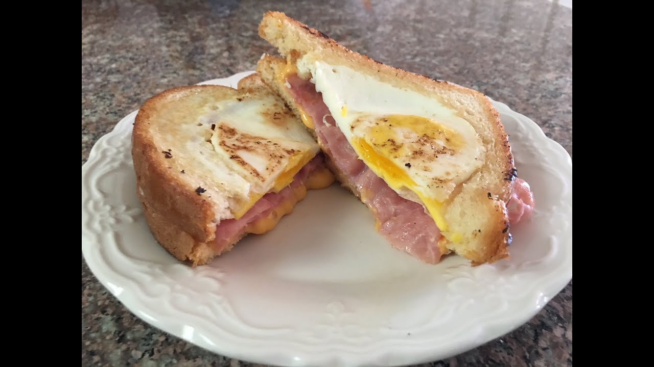 Best Grilled Cheese and Ham Sandwich with a twist - YouTube