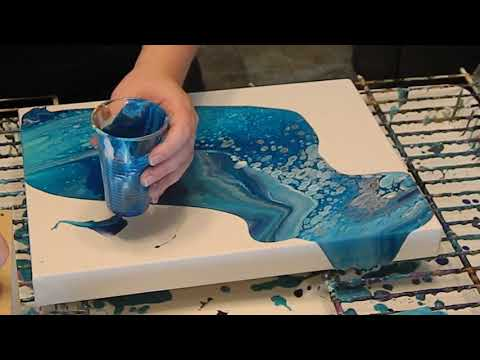 (3) Dip Technique with Acrylic Pour