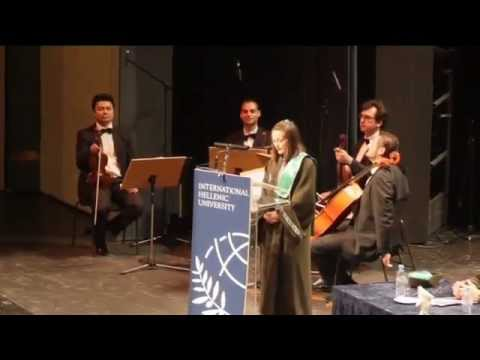 International Hellenic University Graduation Ceremony 2012