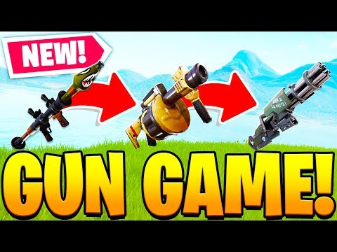 OVERPOWERED GUN GAME CUSTOM MODE In Fortnite PLAYGROUND V2 MODE! - Fortnite Battle Royale