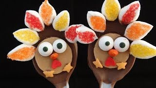 Chocolate Turkey Spoons For Thanksgiving -with Yoyomax12