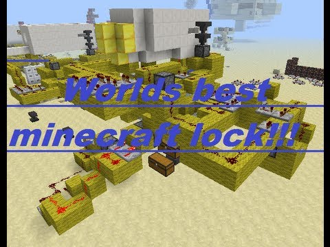 Minecraft tutorial 1.5+: How to make the worlds best lock in minecraft! (perfect for doors!)