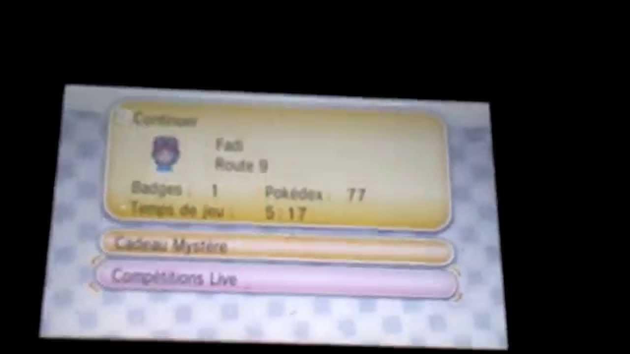 photo comment recommencer une nouvelle partie pokemon x