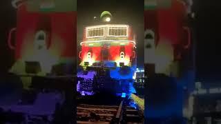 "Electric locomotive named ""GARUDA""  installed at Rail Soudha HQ South Western Railway, Hubballi"