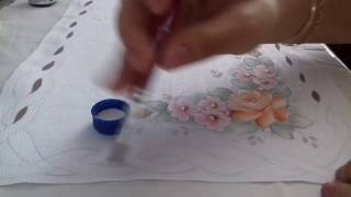 Pintura em Tecido – Caminho de Mesa com Falso Richelieu