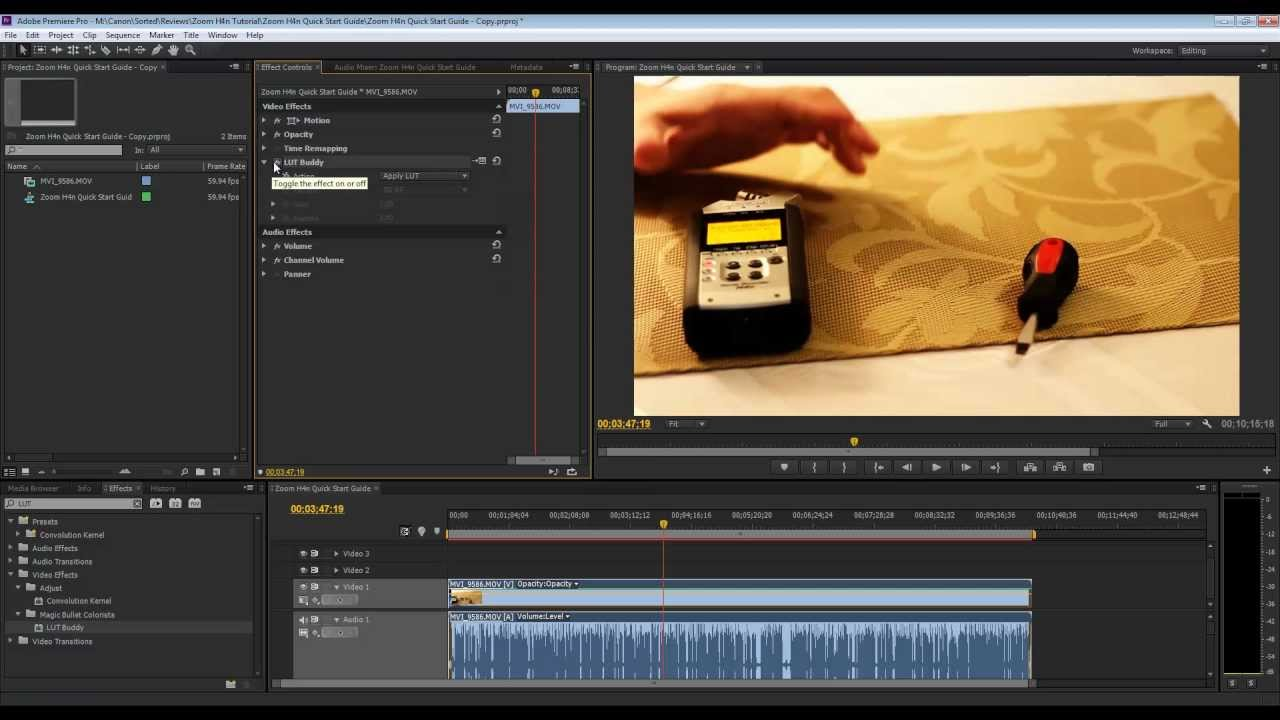 Install LUT buddy for Adobe Premiere Pro and After Effects CS6 and CC