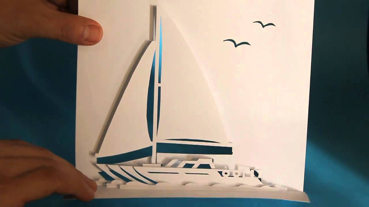SAILING YACHT POP UP CARD YouTube