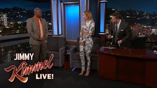 Jennifer Lopez & Jimmy Kimmel Cut Man's Pants Off