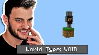 Beating Minecraft in a Void World (HARDCORE)