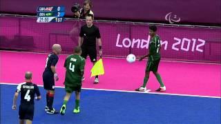 Football 7-a-side - GBR vs BRA - Men's Prelims B3 vs B4 - 1st Half - London 2012 Paralympic Games