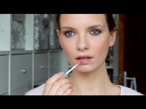affordable and easy everyday makeup look  a model