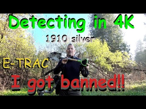 Detecting in 4K 1910 Silver E-TRAC Banned for mini-shovel!