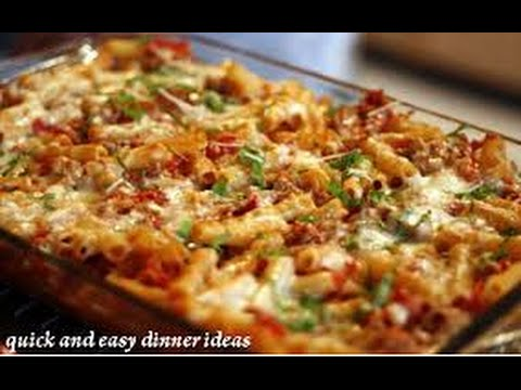 Easy quick delicious dinner recipes