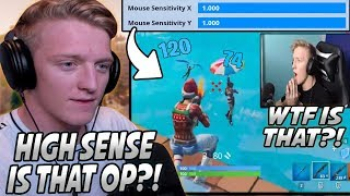 "Tfue Was SURPRISED After Seeing How OVERPOWERED ""High Sensitivity"" Really Is In Fortnite!"
