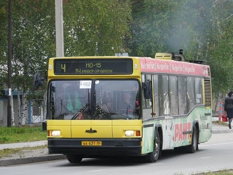Поездка на автобусе МАЗ-103.076 № ВА 631 86, маршрут 3, г. Нефтеюганск