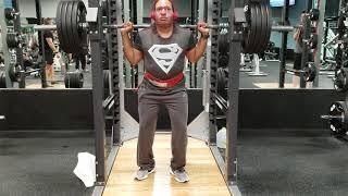 Black Superman  405 squat