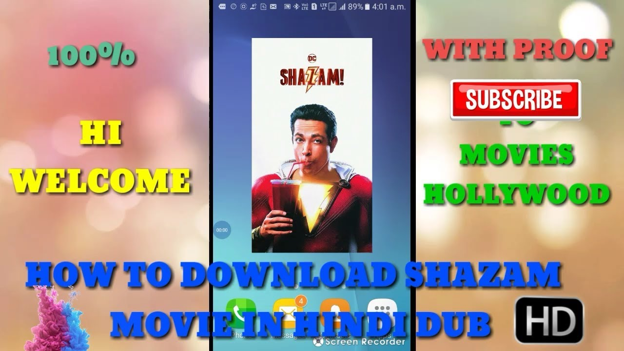 Download How to download SHAZAM Movie in hindi dub with 100%  proof |Movies hollywood