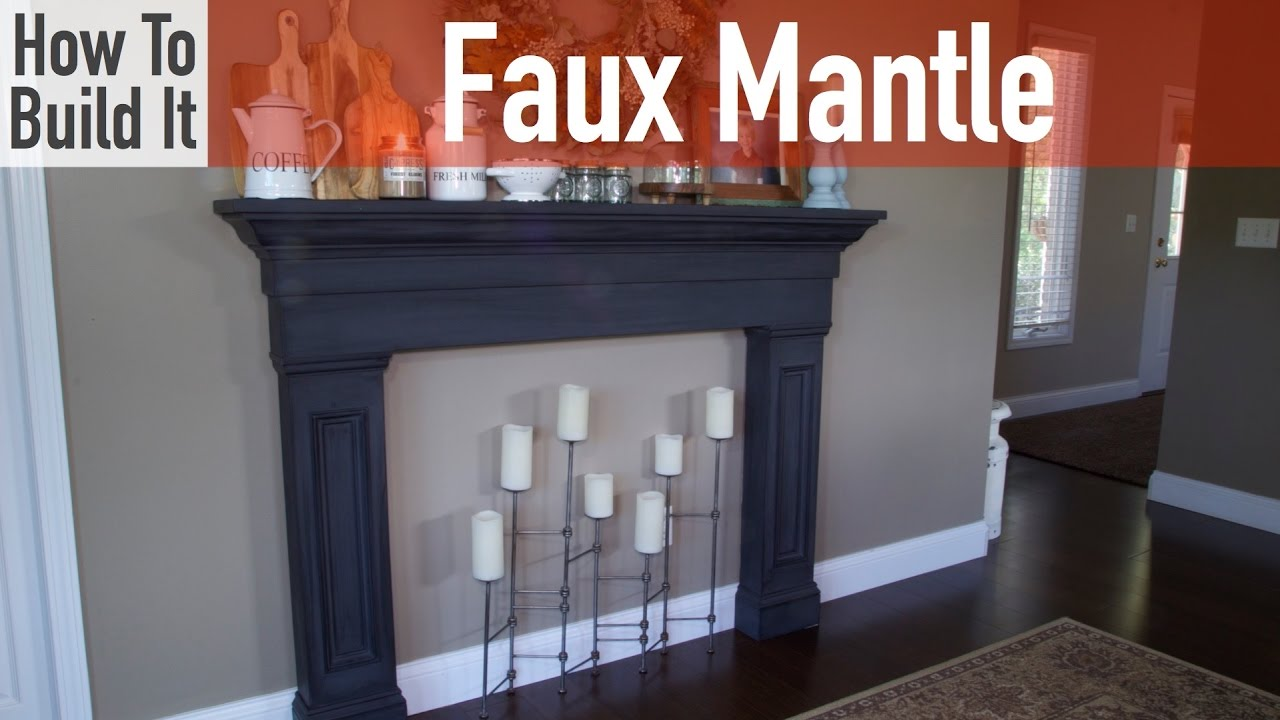 "Build your own faux fireplace mantel surround from a single sheet of 1/2"" plywood. Get the full project plans at... http://rogueengineer.com/diy-faux-firepla..."
