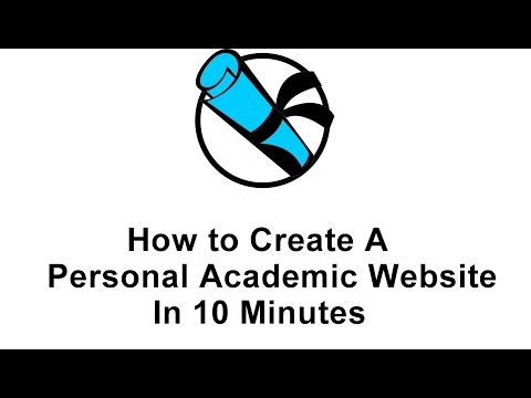 How To Create A Personal Academic Website In 10 Minutes