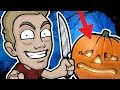 PUMPKIN CARVING CHALLENGE - Halloween Friday 13th Special!