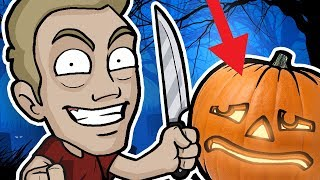 PUMPKIN CARVING CHALLENGE - Halloween Friday 13th Special! thumbnail