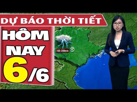 Dự báo thời tiết hôm nay mới nhất ngày 6/6/2021   Dự báo thời tiết 3 ngày tới
