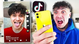 Reacting To My Little Brothers Tik Tok's (CRINGE)
