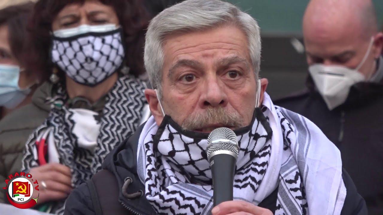 Vaccini per la Palestina | Presidio a Roma contro Israele per l'arrivo dei vaccini anticovid19