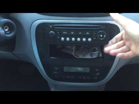 Citroen C3 dashboard door lock switch button removal
