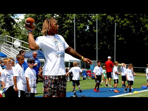 benny-snell-hosts-football-camp-for-kids-at-lexington-catholic-high-school