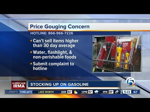 Price gouging hotline activating in Florida