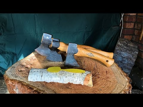 Carving Axes Compared - GB Swedish Carver vs Hans Karlsson Sloyd vs GB  Mini:Kubben