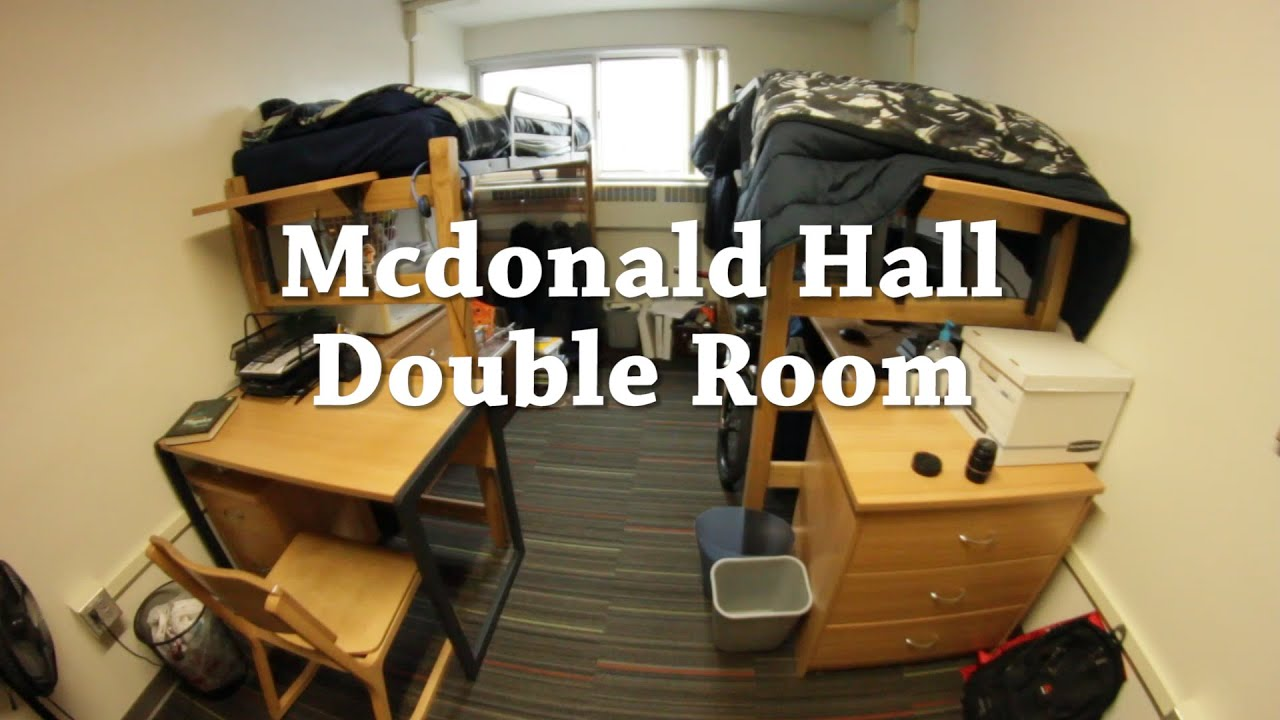 Mcdonald Hall Double Room Youtube