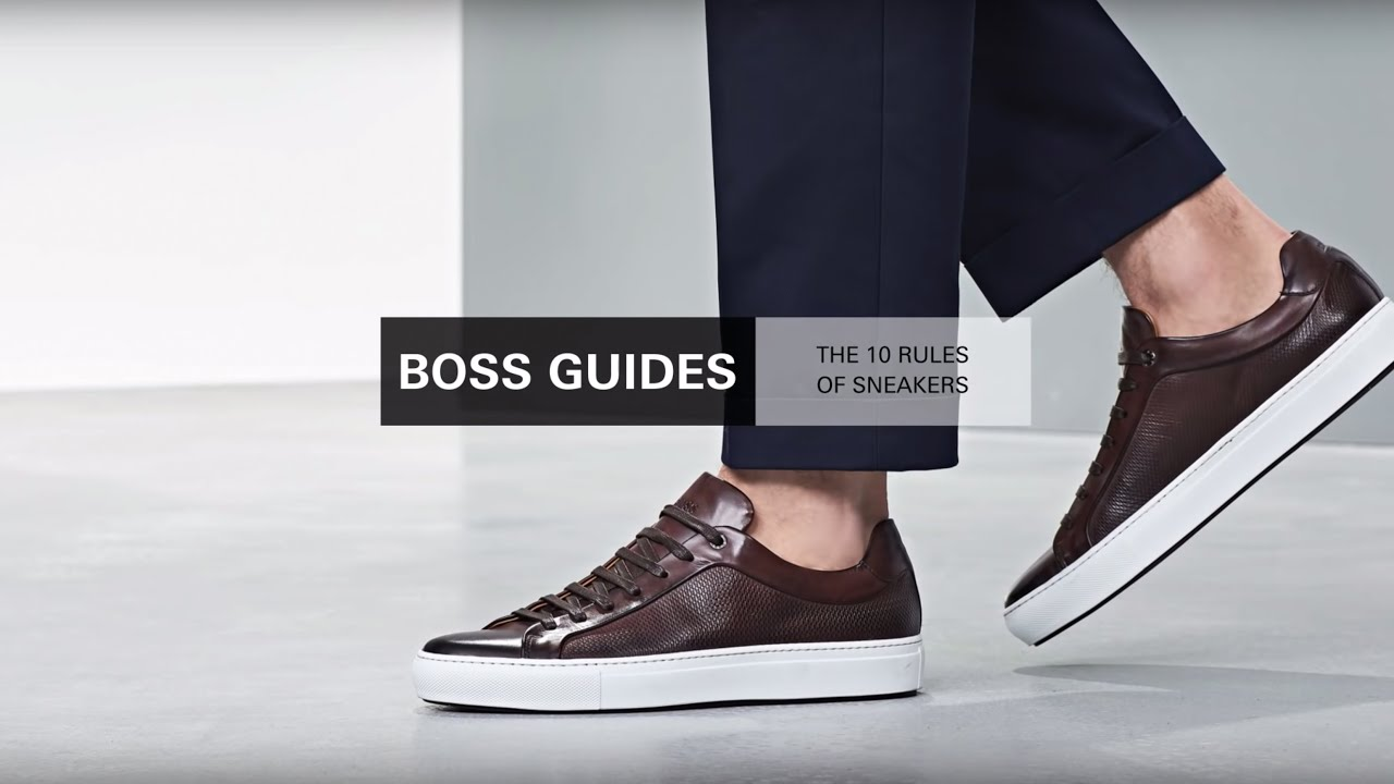 d825987f6973 10 rules of trainers | Combining trainers with suit or chinos | BOSS