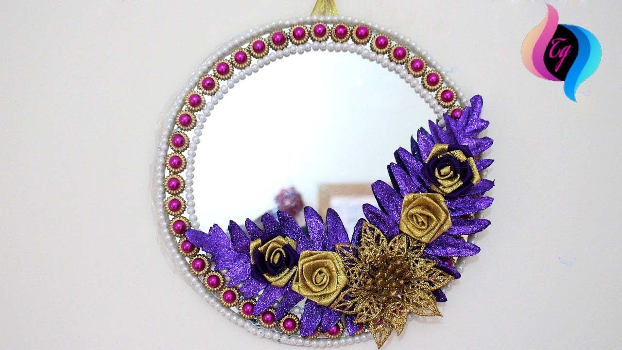 Wall Hanging Mirror Decoration Decorative Wall Mirrors Mirror Designs For Walls Youtube