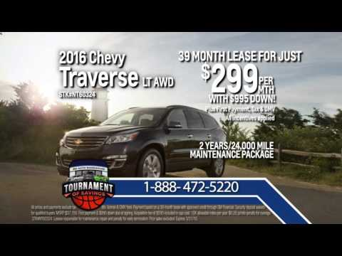 Lease This 2016 Chevy Traverse LT AWD For Just $299 Per Month!