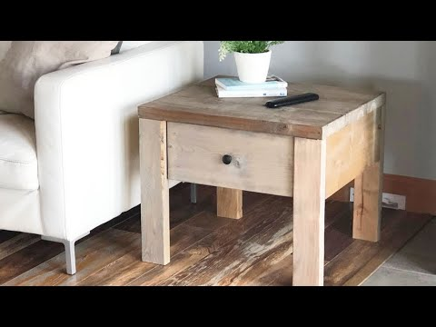 Build a Nightstand or End Table with Drawer - Quick and Easy