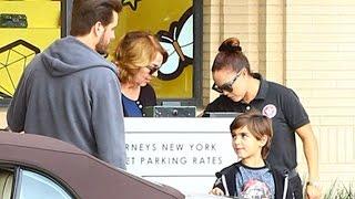 Scot Disick And Mason Join Kanye West At Barneys For Holiday Shopping