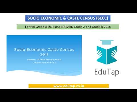 Socio Economic and Caste Census (SECC) explained for RBI and