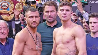 Vasyl Lomachenko vs. Luke Campbell FULL WEIGH IN & FINAL FACE OFF | Matchroom Boxing