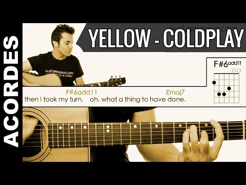 Yellow de ColdPlay  Acordes Guitarra Guitar Cover chords como tocar tutorial