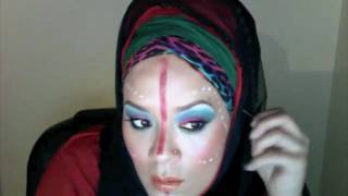 Hijab,multilayered,Omani,Berber,African Tribal makeup inspired Thumbnail