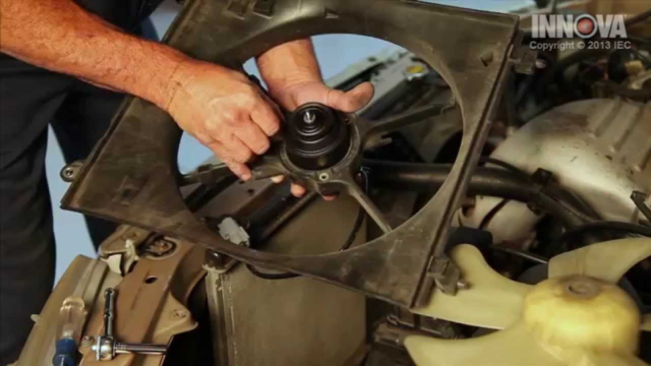 how to change radiator cooling fan motor