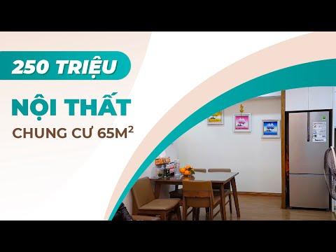 Thăm Quan Thực Tế Nội Thất Căn Hộ Chung Cư 65m2 Đẹp Tại Hà Nội - Nội Thất 250 triệu
